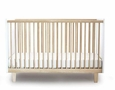RHEA CRIB - WHITE/BIRCH