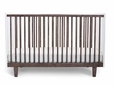 RHEA CRIB - WHITE/WALNUT