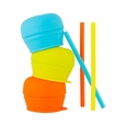 Snug Straw 3pk Lids - Blue/Orange/Green
