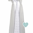 Swaddle 3pk - metallic charm