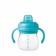 Transitions Soft Spout Sippy Cup With Removable Handles: Aqua