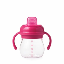 Transitions Soft Spout Sippy Cup With Removable Handles: Pink