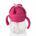 Transitions� Straw Cup with Removable Handles 6 oz Pink