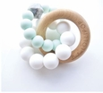 Trinity Wood& Silicone Teether-Mint