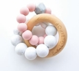 Trinity Wood & Silicone Teether-Tea Rose