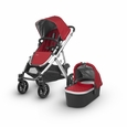 Vista 2018 Stroller: Denny(Red/Silver/Leather)