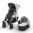 VISTA Stroller - Loic (White/Silver/Leather)