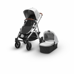 Vista 2018 Stroller: Loic(White/Silver/Leather)