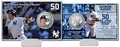Aaron Judge (New York Yankees) Rookie Home Run Record (50) Silver Coin Card