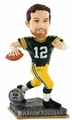 Aaron Rodgers (Green Bay Packers) 2015 Springy Logo Action Bobble Head Forever Collectibles