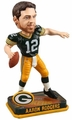Aaron Rodgers (Green Bay Packers) Forever Collectibles 2014 NFL Springy Logo Base Bobblehead