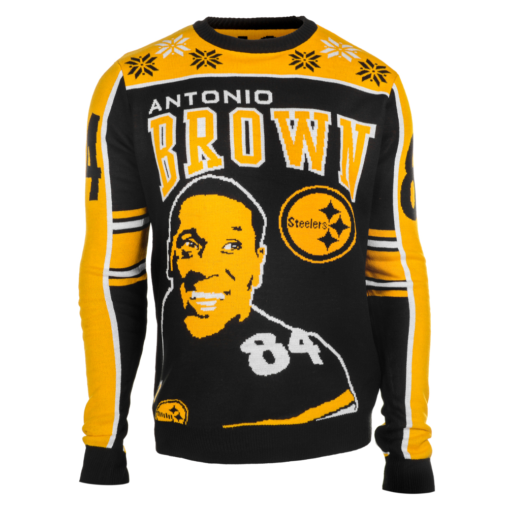 Antonio Brown #84 (Pittsburgh Steelers) NFL Player Ugly Sweater
