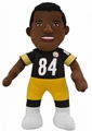 "Antonio Brown (Pittsburgh Steelers) Black Jersey 10"" Player Plush Bleacher Creatures"