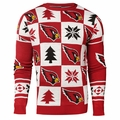 Arizona Cardinals Patches NFL Ugly Crew Neck Sweater by Forever Collectibles
