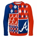 Atlanta Braves MLB Ugly Sweater BusyBlock