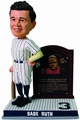 Babe Ruth (New York Yankees) Cooperstown Collection Plaque Base Exclusive Bobble Head #/300