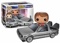 Back to the Future DeLorean Time Machine Pop! Vinyl Vehicle with Marty McFly Figure