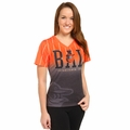 Baltimore Orioles MLB Team Color Gradient Women's V-Neck Tee by Forever Collectibles