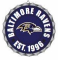 Baltimore Ravens NFL Wall Decor Bottlecap Collection by Forever Collectibles