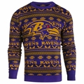 Baltimore Ravens Aztec NFL Ugly Crew Neck Sweater by Forever Collectibles