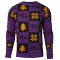 Baltimore Ravens Patches NFL Ugly Crew Neck Sweater by Forever Collectibles