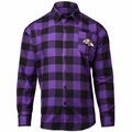 Baltimore Ravens NFL Checkered Men's Long Sleeve Flannel Shirt