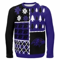 Baltimore Ravens NFL Ugly Sweater Busy Block