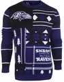 Baltimore Ravens Patches NFL Ugly Sweater by Klew