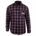 Baltimore Ravens Wordmark Mens Long Sleeve Flannel Shirt