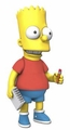 "Bart Simpson The Simpsons 25th Anniversary 5"" Action Figure Series 5 NECA"