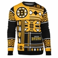 Boston Bruins NHL Patches Ugly Sweater by Klew
