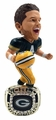 Brett Favre (Green Bay Packers) 1996 Super Bowl Championship Ring Base NFL Bobblehead Exclusive #/750