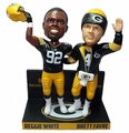 Brett Favre/Reggie White (1996 Green Bay Packers) Retired Numbers Base NFL Bobblehead Exclusive Set #/750