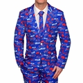 Buffalo Bills NFL Repeat Logo Ugly Business Suit by Forever Collectibles