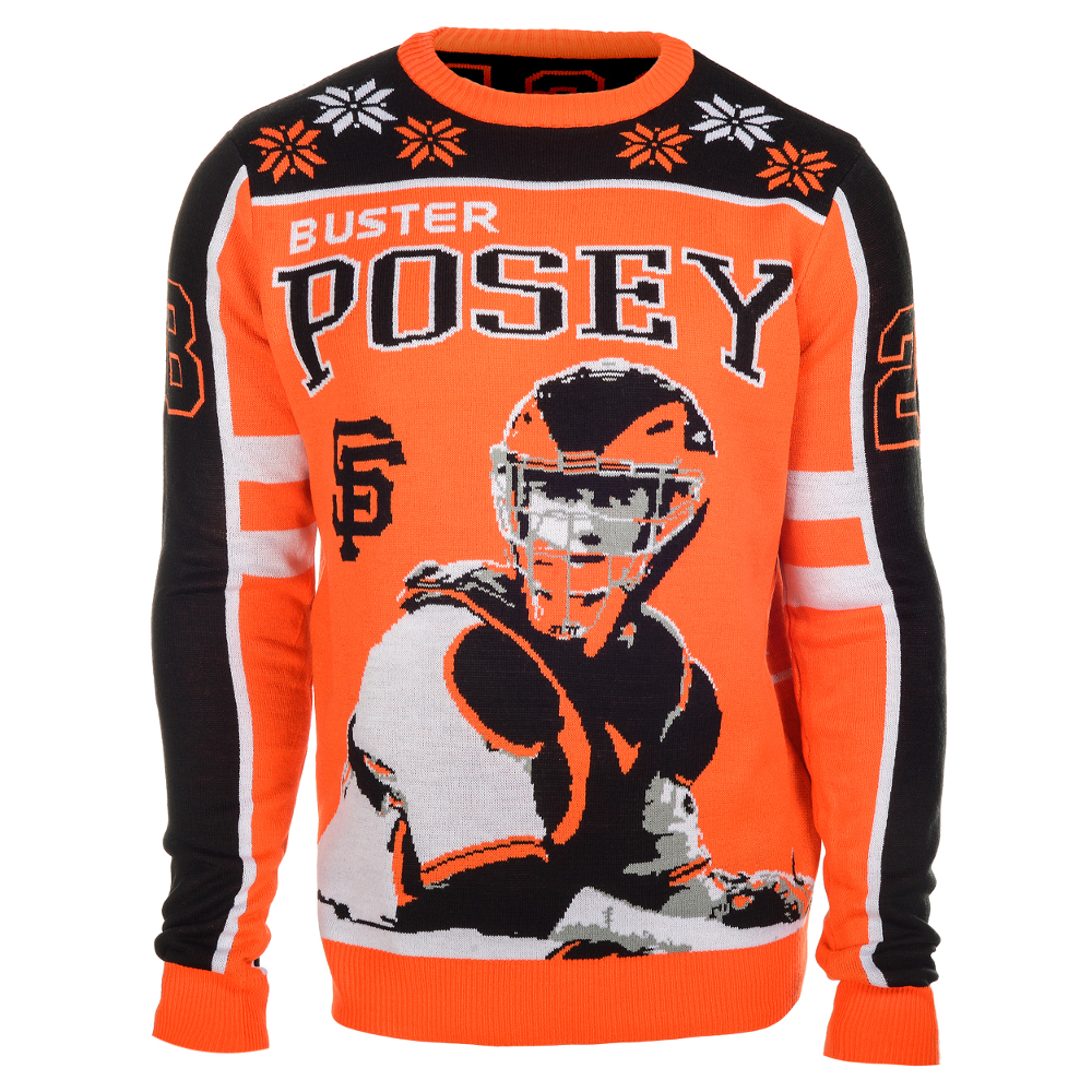 Buster Posey #28 (San Francisco Giants) MLB Player Ugly Sweater