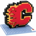 Calgary Flames NHL 3D Logo BRXLZ Puzzle By Forever Collectibles