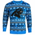 Carolina Panthers Aztec NFL Ugly Crew Neck Sweater by Forever Collectibles