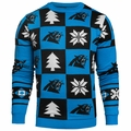 Carolina Panthers Patches NFL Ugly Crew Neck Sweater by Forever Collectibles