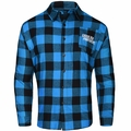 Carolina Panthers NFL Checkered Men's Long Sleeve Flannel Shirt