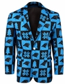 Carolina Panthers NFL Ugly Business Sport Coat Repeat Logo by Forever Collectibles
