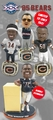 Chicago Bears 1985 Super Bowl Championship Ring Base Bobblehead Exclusive Set (4) #750