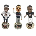 Chicago Bears 1985 Super Bowl Championship Ring Base Bobblehead Exclusive Set (3) #750