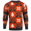 Chicago Bears Patches NFL Ugly Crew Neck Sweater by Forever Collectibles