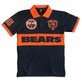 Chicago Bears NFL Cotton Wordmark Rugby Short Sleeve Polo Shirt
