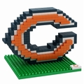 Chicago Bears NFL 3D Logo BRXLZ Puzzle By Forever Collectibles