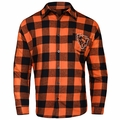 Chicago Bears NFL Checkered Men's Long Sleeve Flannel Shirt