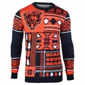 Chicago Bears Patches NFL Ugly Sweater by Klew