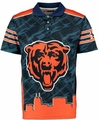 Chicago Bears NFL Polyester Short Sleeve Thematic Polo Shirt