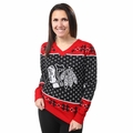 Chicago Blackhawks 2016 Big Logo Women's V-Neck Ugly Sweater by Forever Collectibles