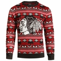 Chicago Blackhawks NHL 2016 Aztec Ugly Crew Neck Sweaters by Forever Collectibles